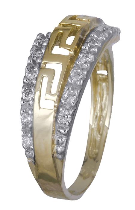 Δαχτυλίδι γυναικείο με ζιργκόν 007374 007374 Χρυσός 14 Καράτια χρυσά κοσμήματα δαχτυλίδια με μαργαριτάρια και διάφορες πέτρες