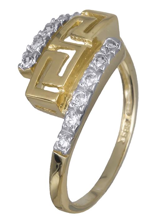 Δαχτυλίδι μαίανδρος με πέτρες ζιργκόν 007375 007375 Χρυσός 14 Καράτια
