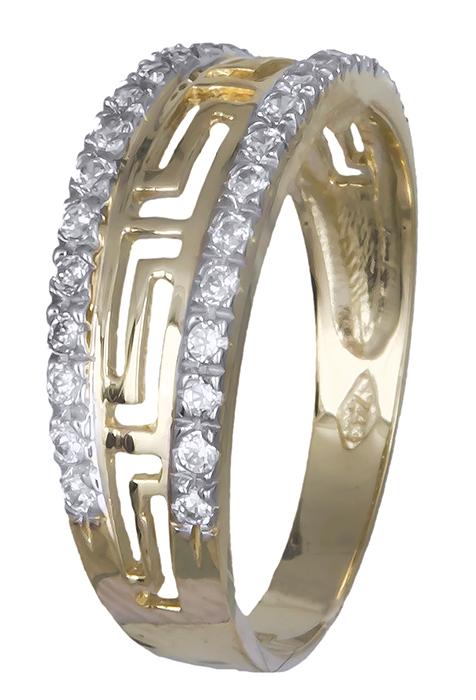 Δαχτυλίδι γυναικείο μαίανδρος 007376 007376 Χρυσός 14 Καράτια χρυσά κοσμήματα δαχτυλίδια με μαργαριτάρια και διάφορες πέτρες