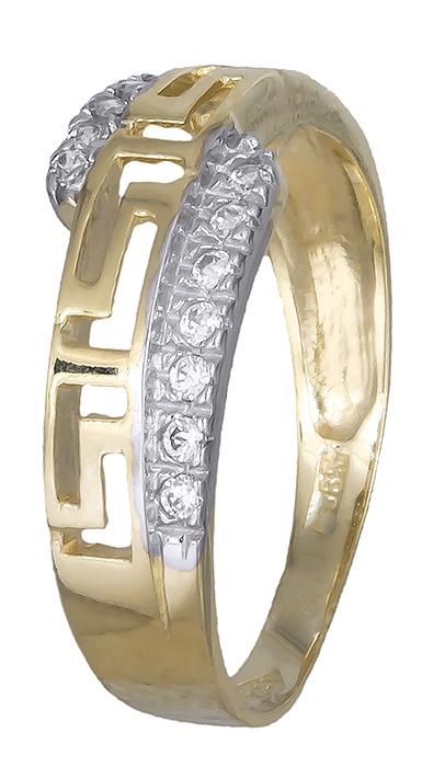 Γυναικείο δαχτυλίδι μαίανδρος με ζιργκόν 007377 007377 Χρυσός 14 Καράτια