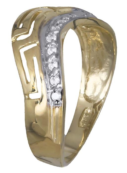 Δαχτυλίδι μαίανδρος με ζιργκόν 007378 007378 Χρυσός 14 Καράτια χρυσά κοσμήματα δαχτυλίδια με μαργαριτάρια και διάφορες πέτρες