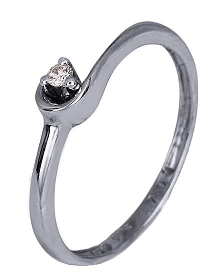 Λευκόχρυσο Δαχτυλίδι 18Κ με Πολύτιμη Πέτρα 007400 007400 Χρυσός 18 Καράτια