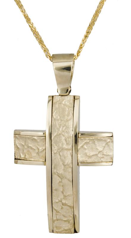 Βαπτιστικοί Σταυροί με Αλυσίδα Βαπτιστικός σταυρός για αγόρι 14Κ C007699 007699C Ανδρικό Χρυσός 14 Καράτια