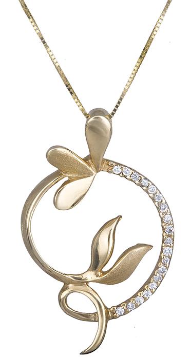 Γυναικείο πετράτο κολιέ Κ14 007732 007732 Χρυσός 14 Καράτια