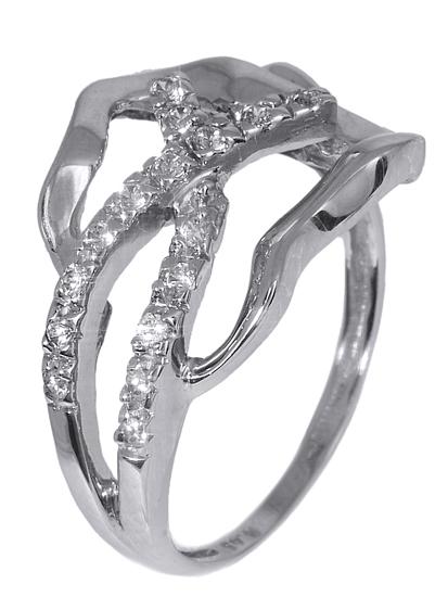 Λευκόχρυσο δαχτυλίδι 008144 008144 Χρυσός 14 Καράτια