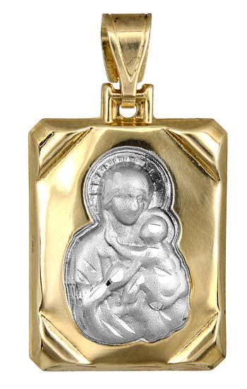 Παιδικό φυλαχτό δίχρωμο K9 012887 012887 Χρυσός 9 Καράτια