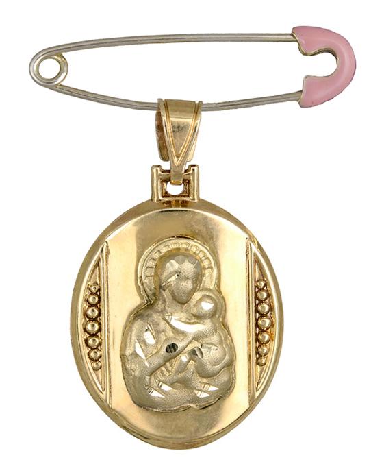 Φυλαχτό της Παναγίας K14 C008387 008387C Χρυσός 14 Καράτια