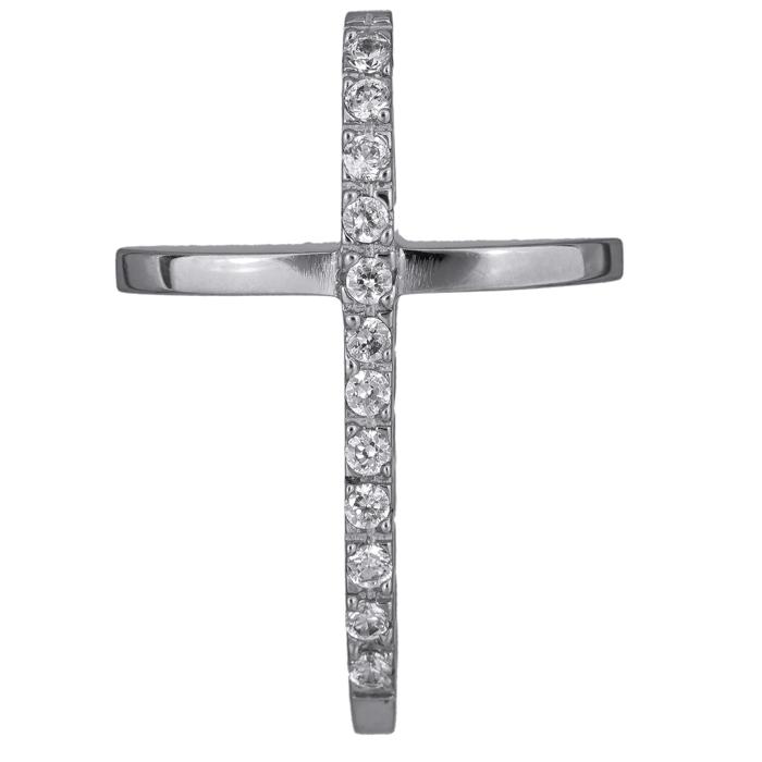 Σταυροί Βάπτισης - Αρραβώνα Γυναικείος σταυρός με ζιργκόν 14Κ 008443 008443 Γυναικείο Χρυσός 14 Καράτια