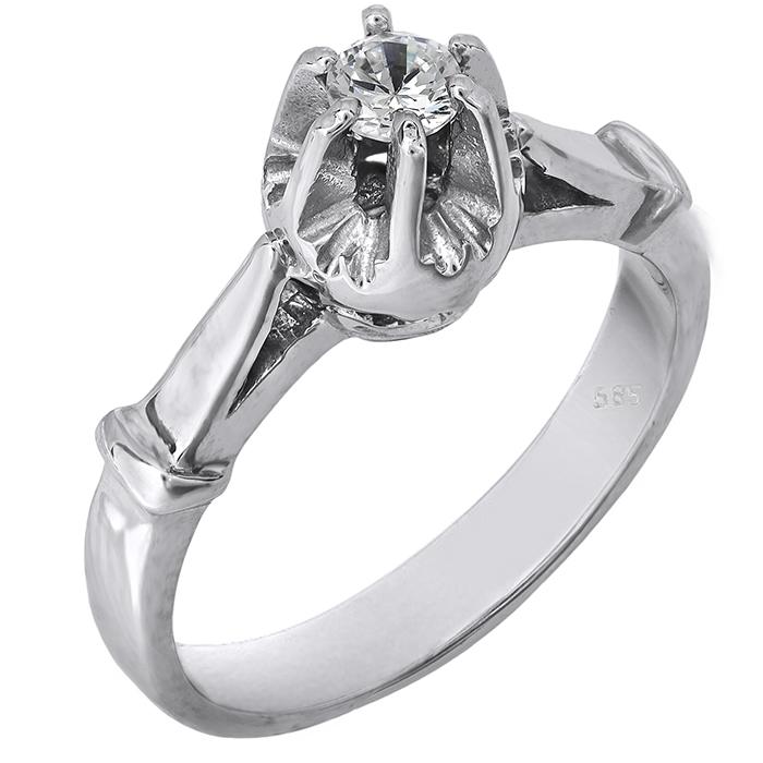 Δαχτυλίδι γυναικείο λευκόχρυσο Κ14 008530 008530 Χρυσός 14 Καράτια ... 184e49e9813