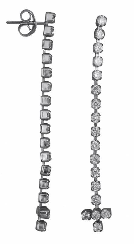Λευκόχρυσα σκουλαρίκια 008668 008668 Χρυσός 14 Καράτια