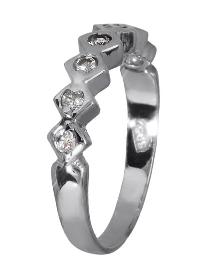 Λευκόχρυσο δαχτυλίδι 14K 008726 008726 Χρυσός 14 Καράτια