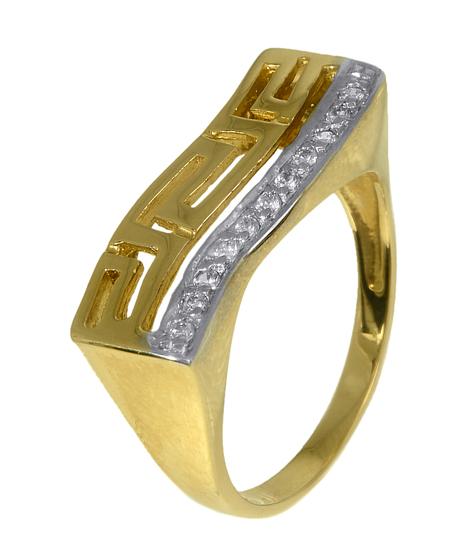 Χρυσό δαχτυλίδι μαίανδρος 008749 Χρυσός 14 Καράτια