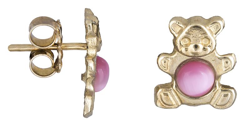 Χρυσά σκουλαρίκια αρκουδάκια Κ14 009081 009081 Χρυσός 14 Καράτια