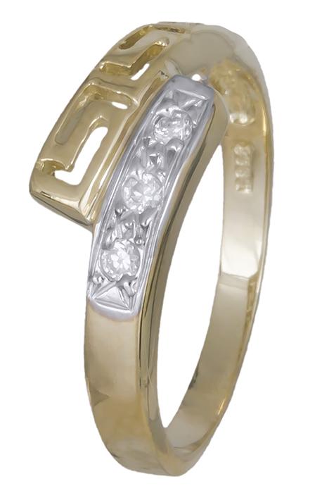 Χρυσό δαχτυλίδι μαίανδρος Κ14 009307 009307 Χρυσός 14 Καράτια