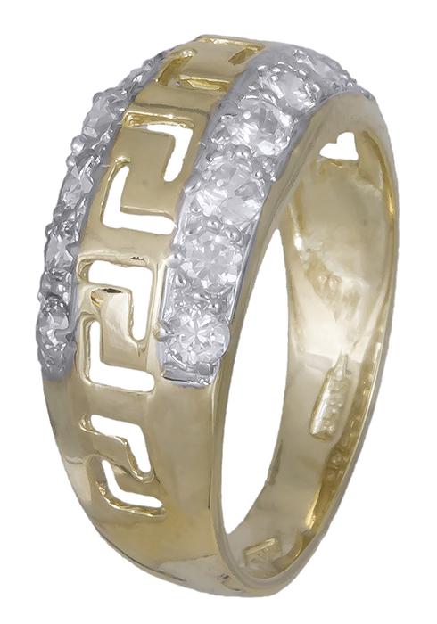 Γυναικείο δαχτυλίδι μαίανδρος με ζιργκόν 009311 009311 Χρυσός 14 Καράτια