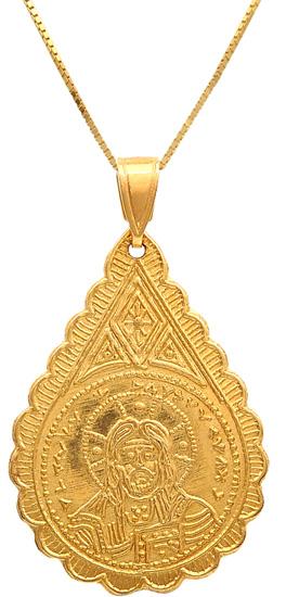 Χρυσό φυλακτό 14 καράτια με αλυσίδα 009358 009358 Χρυσός 14 Καράτια