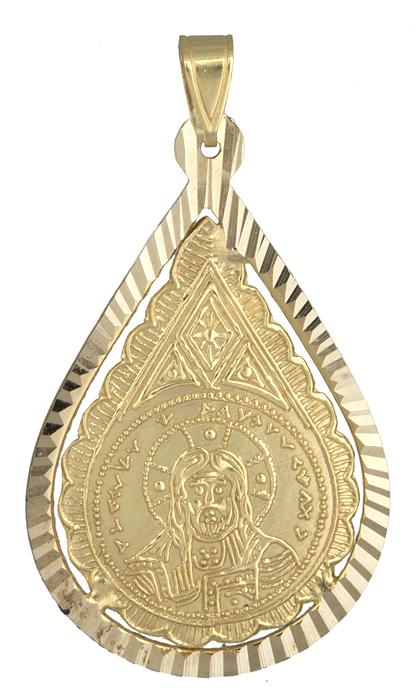 Κωνσταντινάτο φυλαχτό χρυσό Κ14 009363 009363 Χρυσός 14 Καράτια
