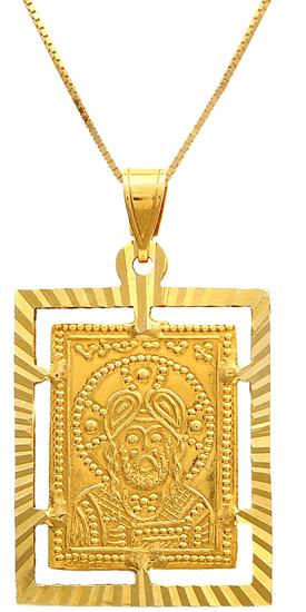 Κωνσταντινάτο-φυλαχτό χρυσό 14Κ 009377 009377 Χρυσός 14 Καράτια