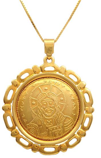 Κωνσταντινάτο χρυσό 14Κ με αλυσίδα 009383 009383 Χρυσός 14 Καράτια