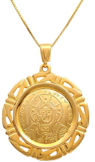 Κωνσταντινάτο χρυσό 14Κ με αλυσίδα 009386 009386 Χρυσός 14 Καράτια