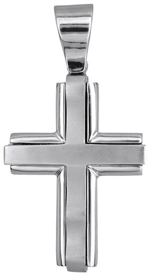 Σταυροί Βάπτισης - Αρραβώνα Ανδρικός λευκόχρυσος σταυρός 009582 009582 Ανδρικό Χρυσός 14 Καράτια