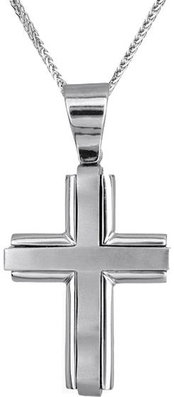 Βαπτιστικοί Σταυροί με Αλυσίδα Ανδρικός σταυρός με αλυσίδα C009582 009582C Ανδρικό Χρυσός 14 Καράτια