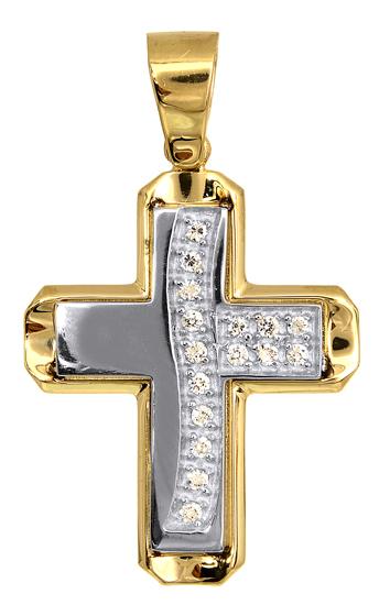 Σταυροί Βάπτισης - Αρραβώνα Γυναικείοι Σταυροί 009598 009598 Γυναικείο Χρυσός 14 Καράτια