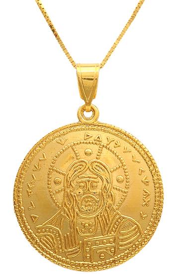 Κωνσταντινάτο-φυλαχτό χρυσό 14Κ με αλυσιδα 009717 009717 Χρυσός 14 Καράτια