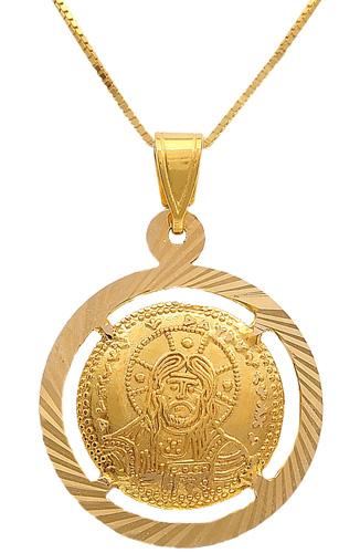 Κωνσταντινάτο χρυσό 14Κ με αλυσίδα 009720 009720 Χρυσός 14 Καράτια