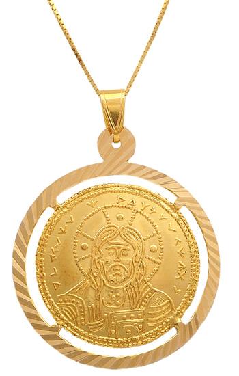 Κωνσταντινάτο χρυσό 14Κ με αλυσίδα 009722 009722 Χρυσός 14 Καράτια