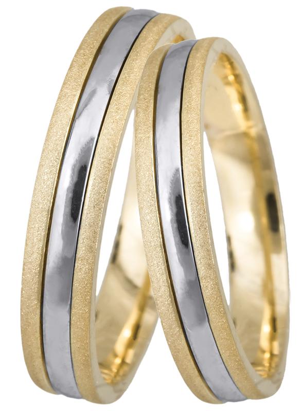 Βέρες γάμου ματ-λουστρέ 14Κ BR0437 BR0437 Χρυσός 14 Καράτια