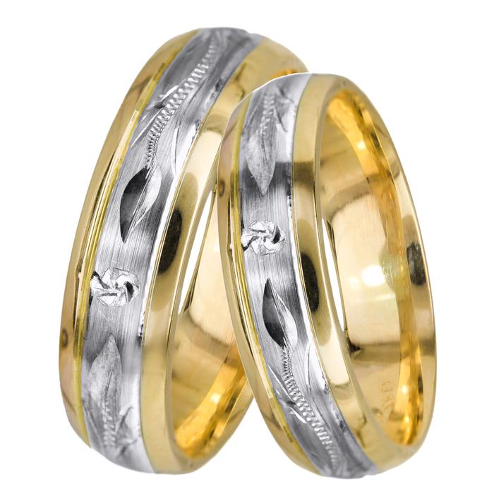 ΒΕΡΕΣ ΑΡΡΑΒΩΝΑ ΔΙΧΡΩΜΕΣ BRS0512D Χρυσός 14 Καράτια