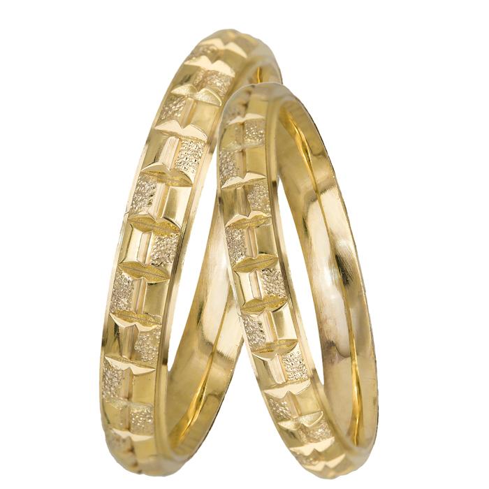 Χρυσές Βέρες BRS0921 Χρυσός 14 Καράτια μεμονωμένο τεμάχιο