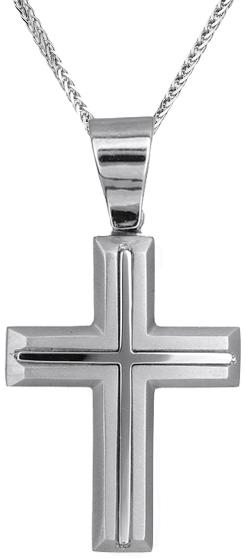 Βαπτιστικοί Σταυροί με Αλυσίδα Ανδρικός σταυρός με αλυσίδα C010115 010115C Ανδρικό Χρυσός 14 Καράτια