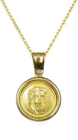 Χρυσό φυλαχτό Κ14 c010195 010195C Χρυσός 14 Καράτια