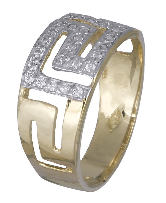 Γυναικείο δαχτυλίδι μαίανδρος Κ14 010215 010215 Χρυσός 14 Καράτια