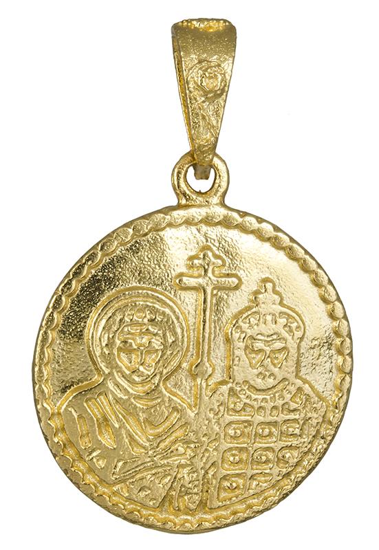 Χρυσό κωνσταντινάτο διπλής όψης 14Κ 010320 010320 Χρυσός 14 Καράτια