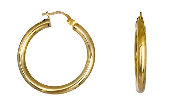 Χρυσοί κρίκοι Κ14 010351 010351 Χρυσός 14 Καράτια