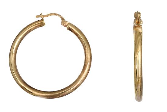 Χρυσά Σκουλαρίκια Κρίκοι Κ14 010352 010352 Χρυσός 14 Καράτια