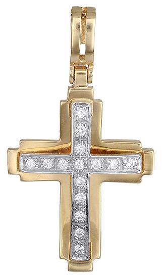 Σταυροί Βάπτισης - Αρραβώνα Βαπτιστικός σταυρός για κορίτσι 14Κ 010587 010587 Γυναικείο Χρυσός 14 Καράτια