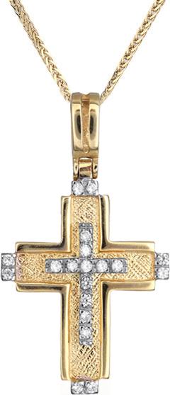 Βαπτιστικοί Σταυροί με Αλυσίδα Γυναικείος σταυρός C010692 010692C Γυναικείο Χρυσός 14 Καράτια