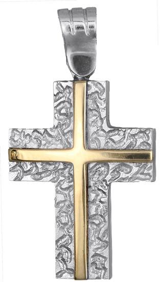 Σταυροί Βάπτισης - Αρραβώνα Ανδρικός σταυρός διπλής όψεως 14Κ 010800 010800 Ανδρικό Χρυσός 14 Καράτια