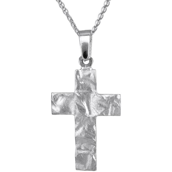 Λευκόχρυσος σταυρός Κ14 010811C 010811C Χρυσός 14 Καράτια