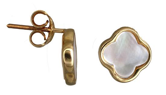 Γυναικεία σκουλαρίκια Κ9 με φίλντισι 016734 016734 Χρυσός 9 Καράτια