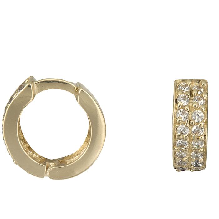 Χρυσά κρίκοι σκουλαρίκια Κ14 010925 010925 Χρυσός 14 Καράτια