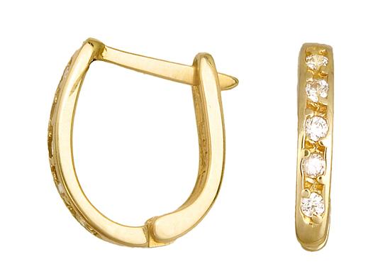 ΧΡΥΣΟΙ ΚΡΙΚΟΙ 010926 010926 Χρυσός 14 Καράτια χρυσά κοσμήματα σκουλαρίκια καρφωτά