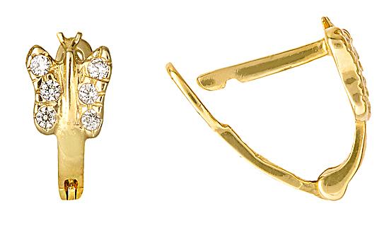 ΣΚΟΥΛΑΡΙΚΙΑ ΚΡΙΚΟΙ ΧΡΥΣΟΙ 010931 010931 Χρυσός 14 Καράτια χρυσά κοσμήματα σκουλαρίκια καρφωτά
