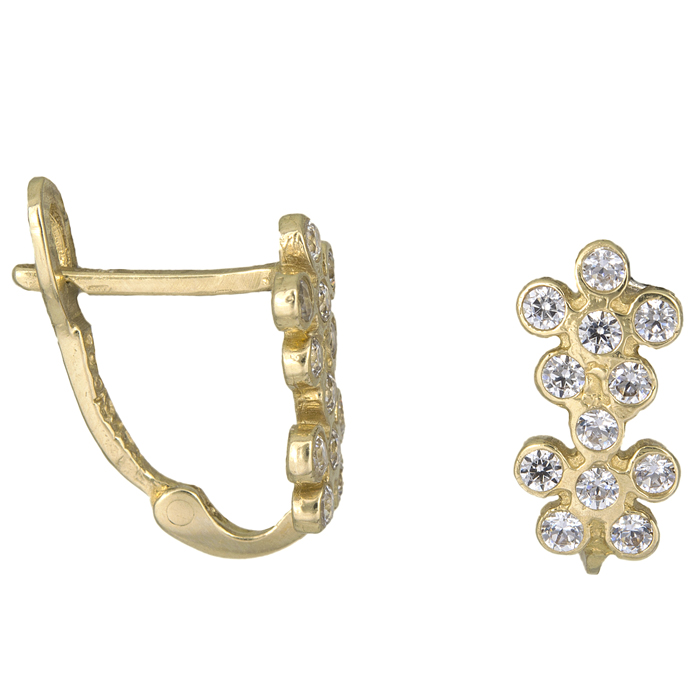 Γυναικεία σκουλαρίκια Κ14 010932 010932 Χρυσός 14 Καράτια