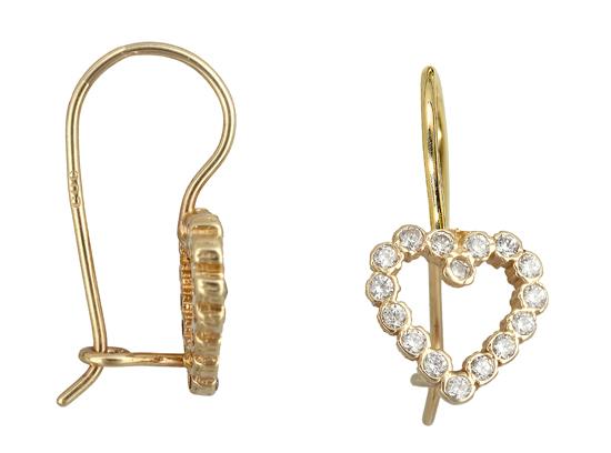 Χρυσά σκουλαρίκια καρδιά Κ14 010941 010941 Χρυσός 14 Καράτια