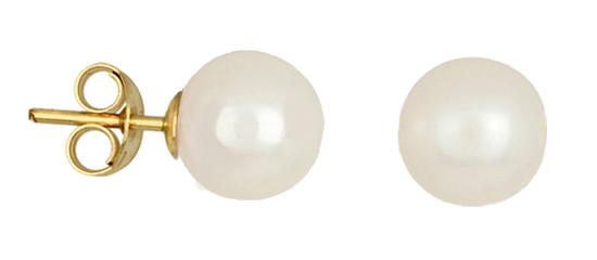 Μαργαριτάρια | Κοσμήματα Online 011031 011031 Χρυσός 14 Καράτια χρυσά κοσμήματα σκουλαρίκια καρφωτά